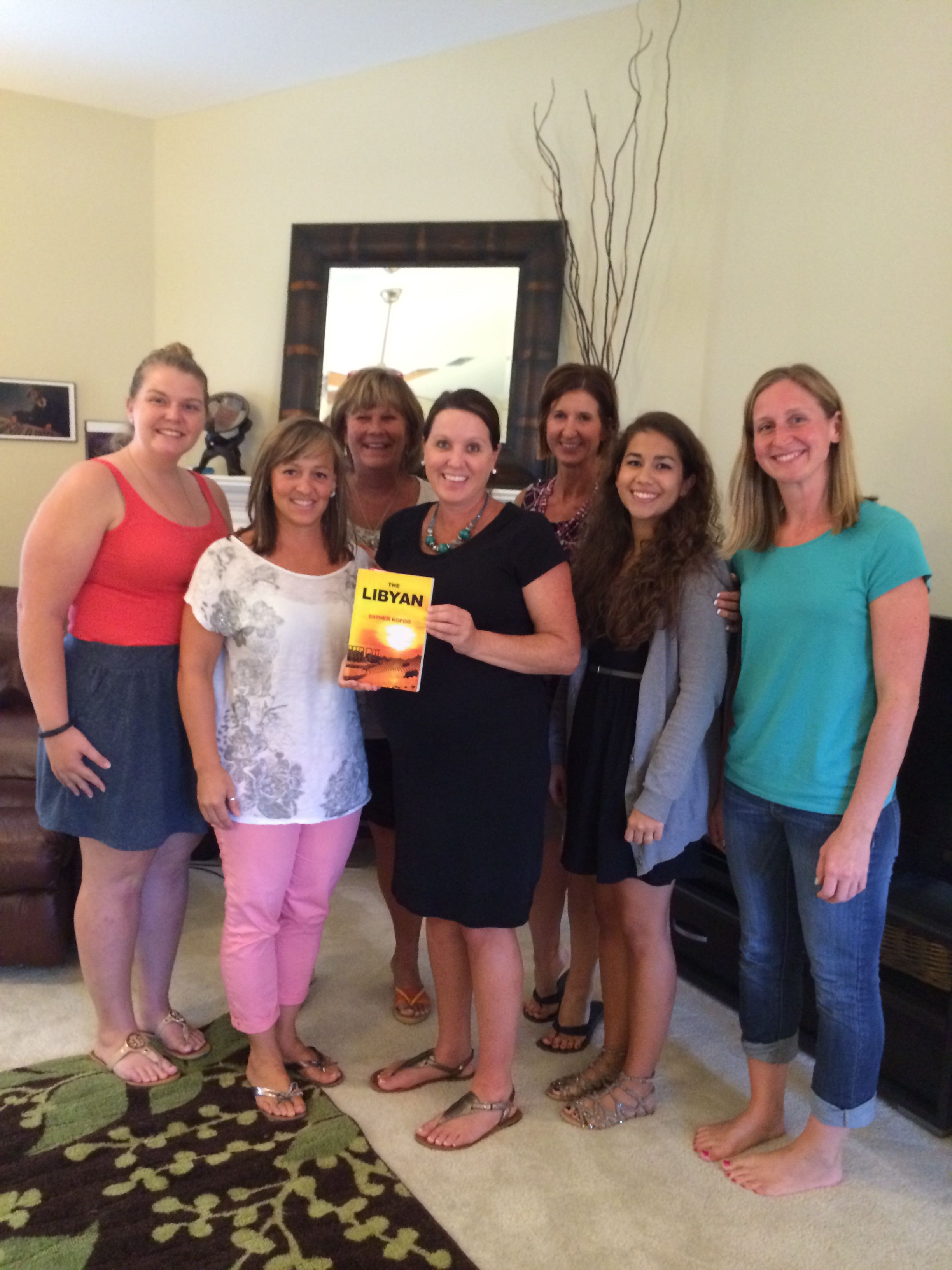 The author was our guest this evening! This is a great book, available from Amazon! Book Club 7/29/14   THE LIBYAN Esther Kofod www.estherkofod.com