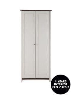 Consort Tivoli Ready Assembled 2 Door Wardrobe Bedroom Furniture