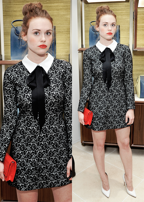 Holland Roden attends Serapian Milano Celebrates Opening of First U.S. Retail Store // June 3, 2015.
