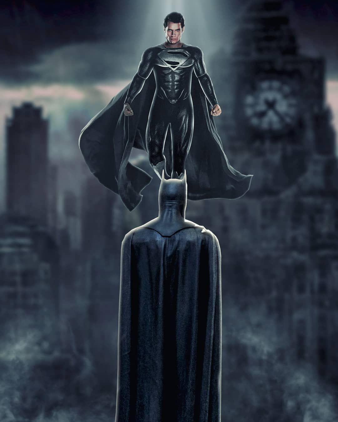 Batman V Superman Black Superman Superman Batman Henrykavill Brucewayne Benaffleck Dccomic Black Superman Superman Wallpaper Batman Superman Wonder Woman