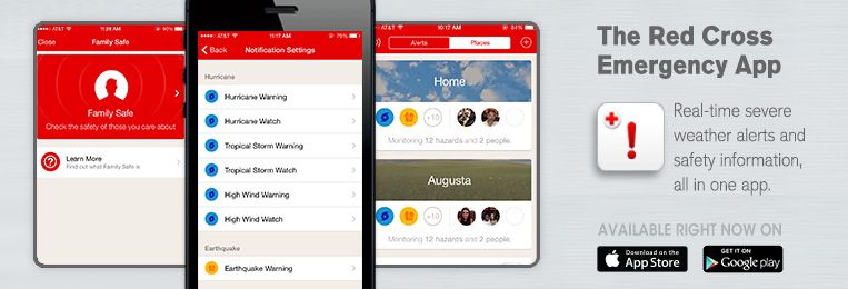 American Red Cross Emergency App realtime severe weather