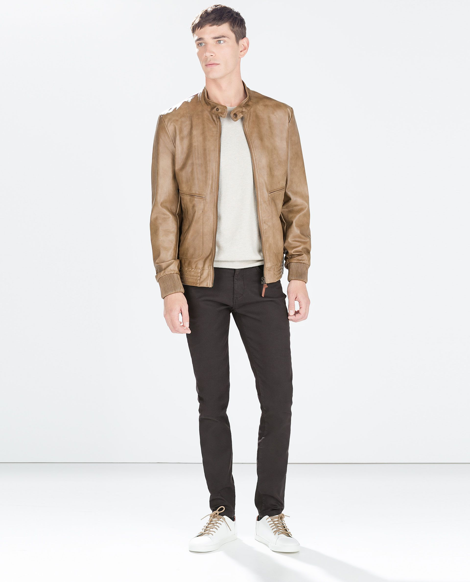 FAUX LEATHER JACKET from Zara AW 2014 Autumn/Spring