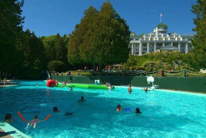 Esther Williams swimming pool grand Hotel on Mackinac Island ...