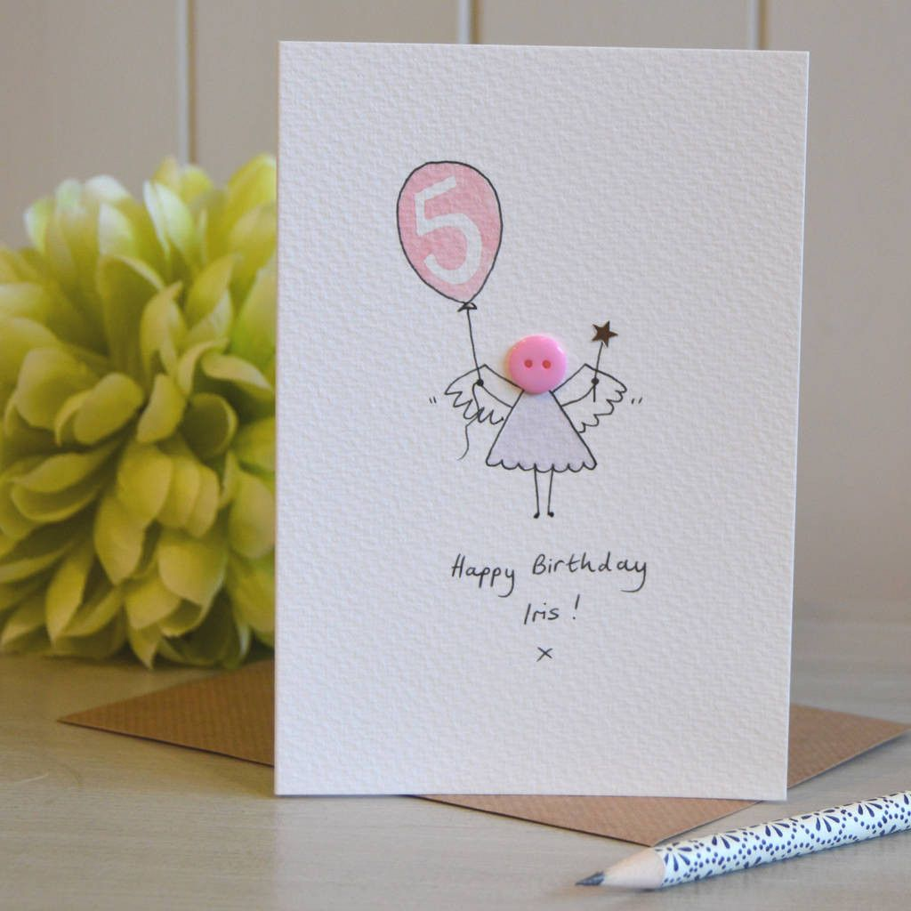Personalised Button Fairy Handmade Card The Top 20 Ideas About