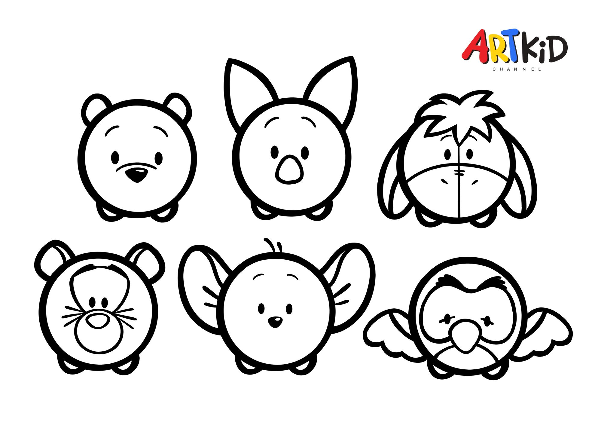 Winnie The Pooh Pals Free Printable Coloring Pages