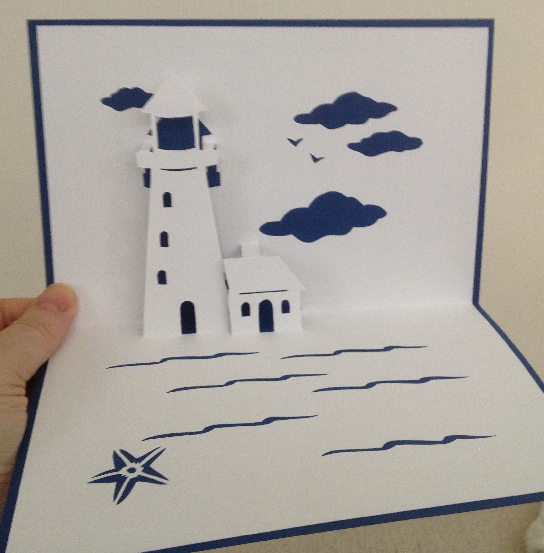 pop up cards lighthouses card templates cards crafts a2 ideas cards ...
