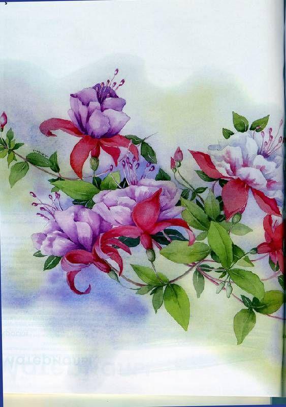 Тейт в рисуем по схемам цветы акварелью