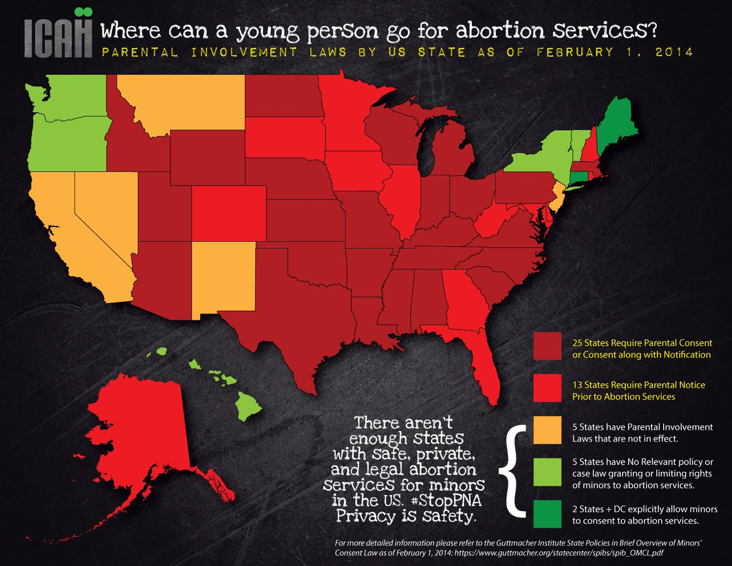 Map Of Where A Young Person Can Safely Find Private Legal - Map of legal abortion us