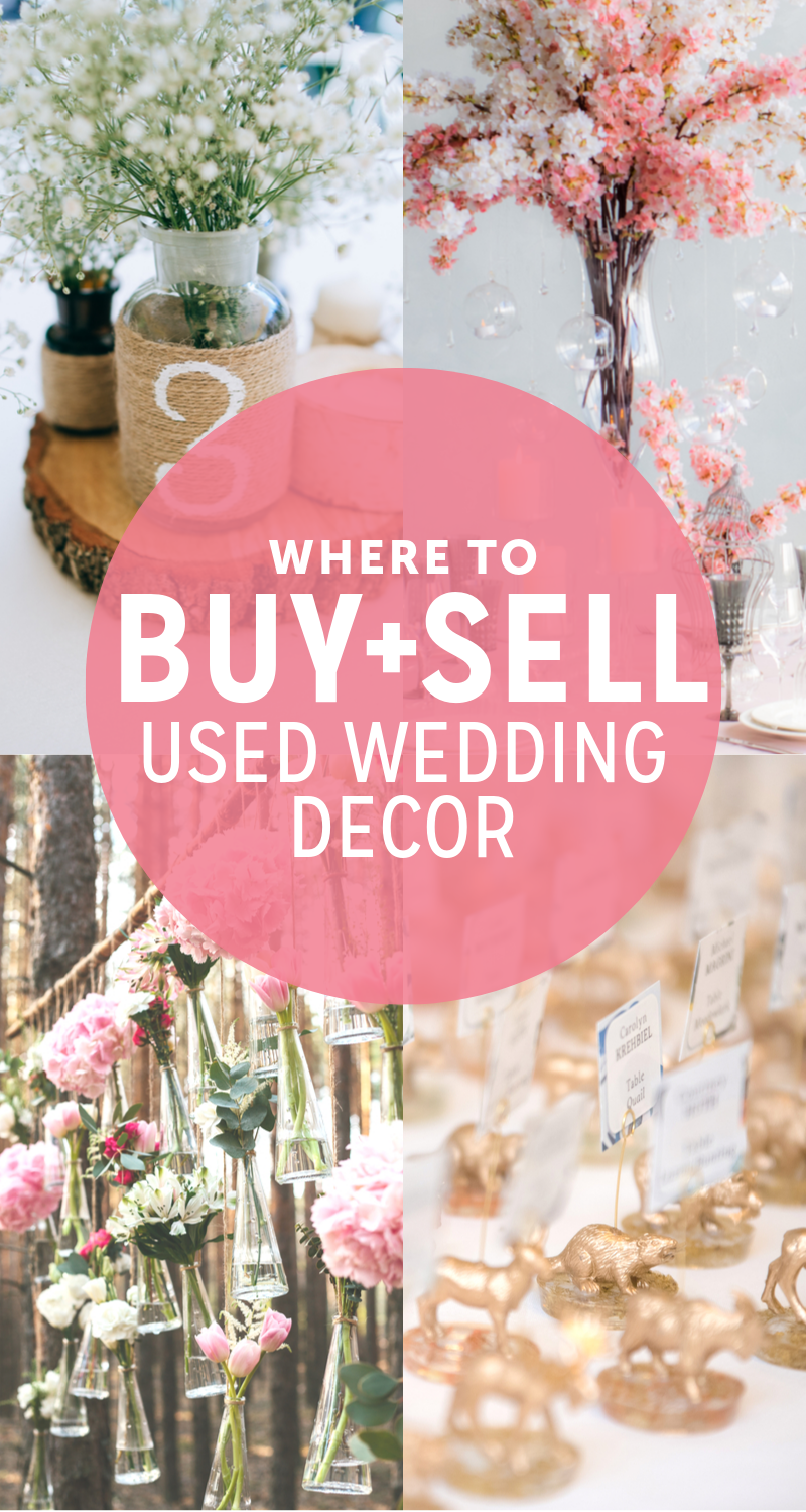 Where to Buy and Sell Used Wedding Decor Online  Used wedding