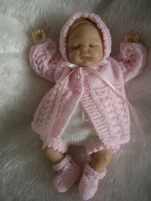Hand Knitted Dolls Clothes For 10 11 Reborn Ooak Baby Baby Doll Clothes Hand Knit Doll Knitted Dolls