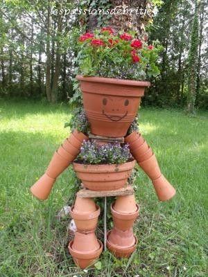 bonhomme en pot de terre | act : les pots en terre | pinterest