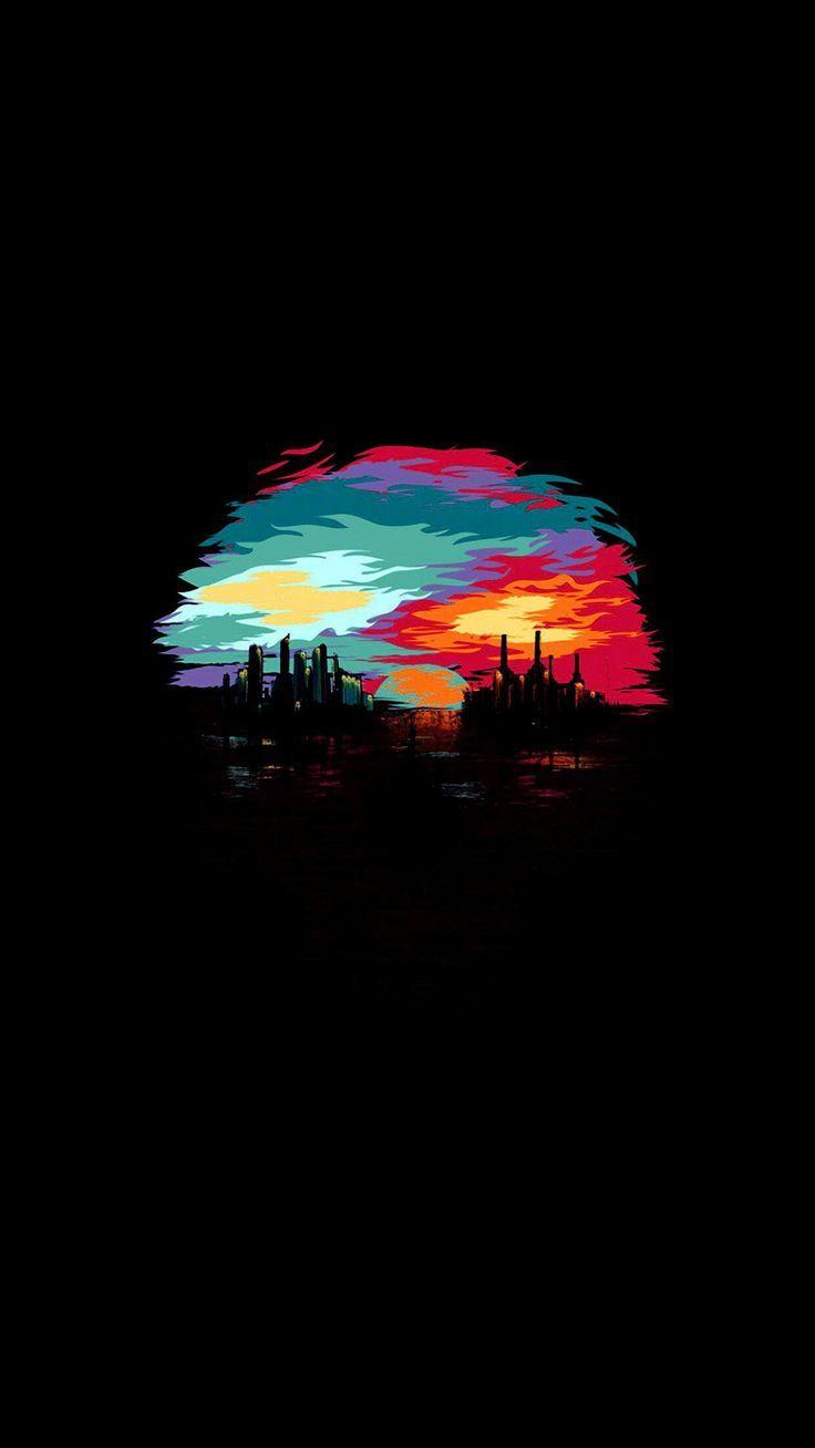 Black Art Wallpaper Colorful Sky Billion Hd Wallpapers Art Wallpaper Iphone Wallpaper Android Wallpaper