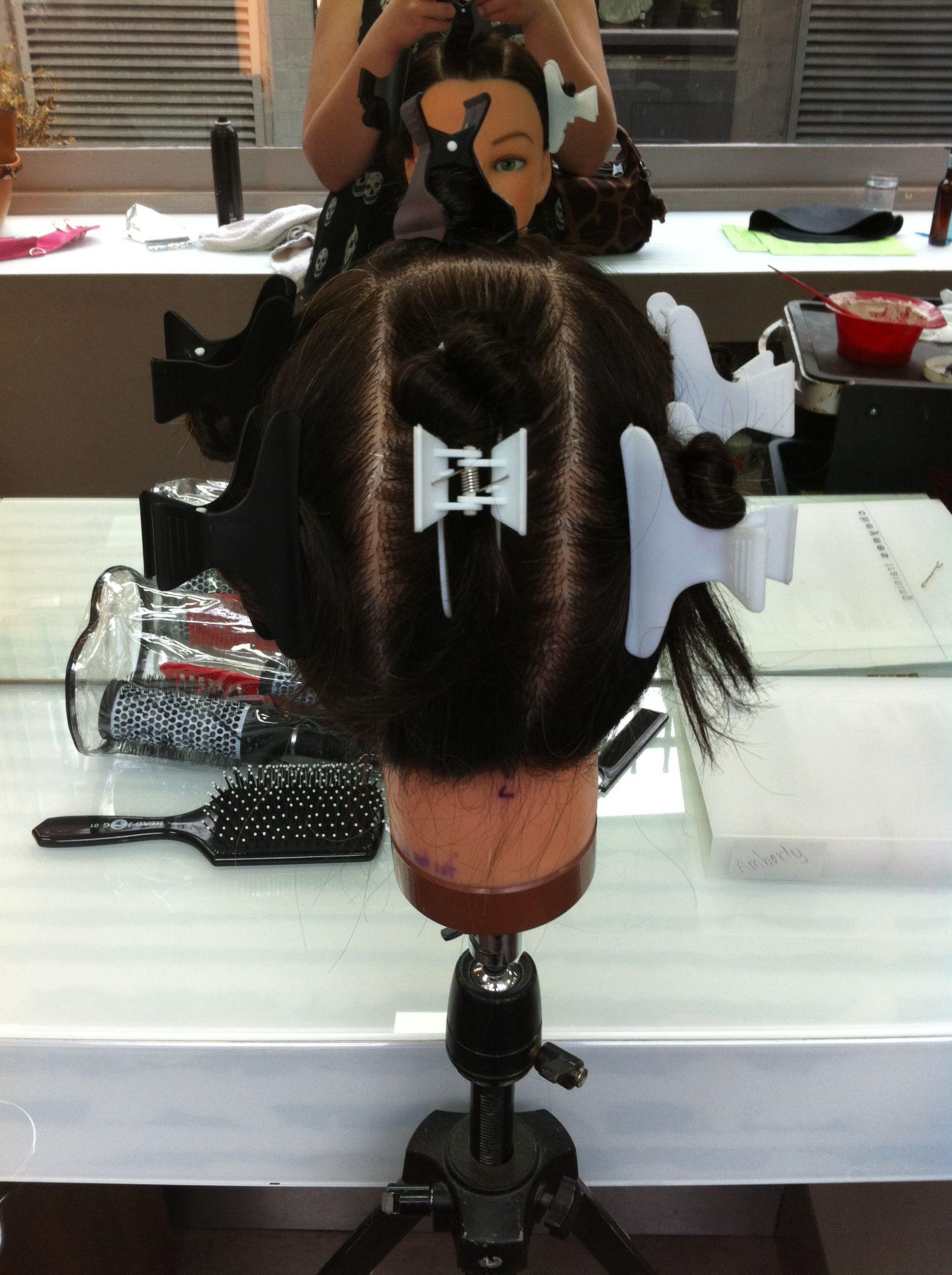Sgabello Framar ~ Sectioning for full head of foils hair color pinterest hair