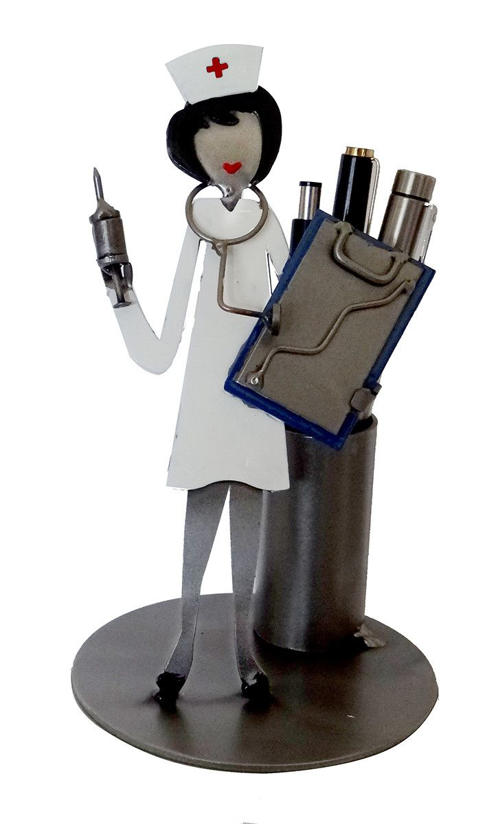 Nurse Sculpture Pen Holder