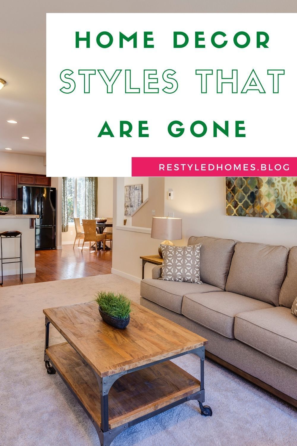 """It's time for a change, and to be truthful, we are glad to say goodbye to some of these decorating trends that are out of style – some more than others.How do you define a trend? According to Merriam-webster, a trend can be defined as """"the general movement over time of a statistically detectable change."""" Sorry, that's a bit formal. #decorideas #DIYhomeideas #decorhacks #homeprojects"""