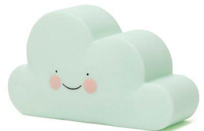 Wolken nachtlampje Led Mintgroen