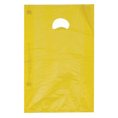 This Yellow Plastic Merchandise Bag Is A Perfect Fit For Just About Anything Great Color Selections This Product Can Merchandise Bags Retail Bags Merchandise