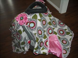 Car Seat Canopy I made for my sis-in-law's upcoming new arrival!