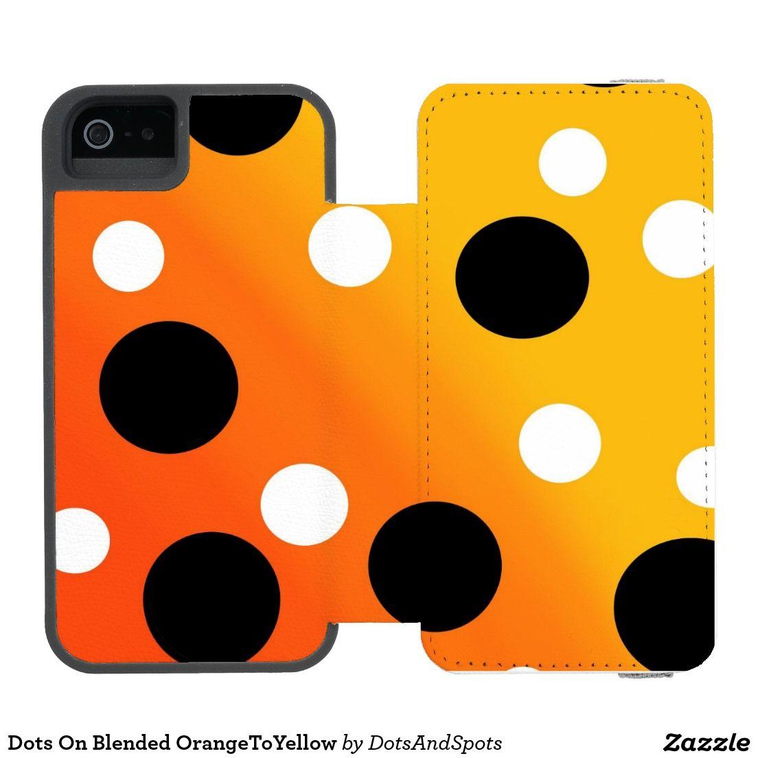 Dots On Blended OrangeToYellow Incipio Watson™ iPhone 5 Wallet Case