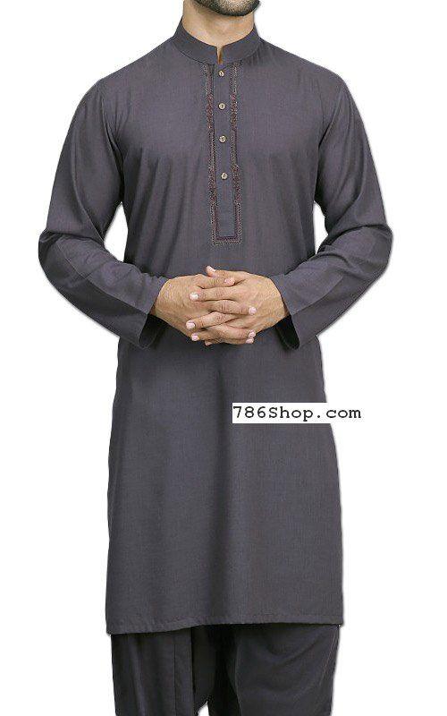 60d97ede28 Grey Men Shalwar Kameez Suit | Buy Pakistani Designer Fashion Dress ...