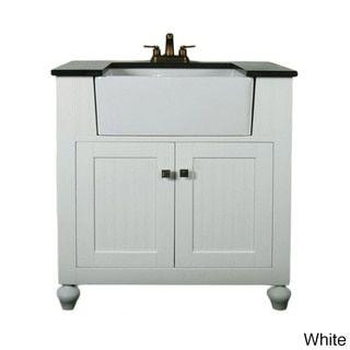 30 Inch Bathroom Vanity With Granite Top legion furniture granite top 30-inch farmhouse apron style single