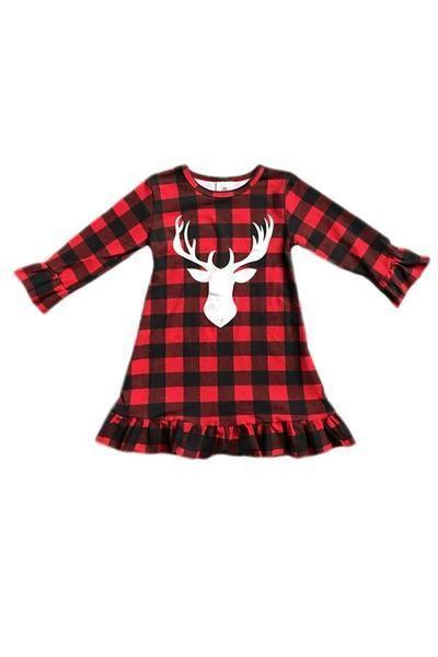 1a3dc4d67 Girls Plaid Christmas Dress | Baby Stuff | Plaid christmas, Plaid ...