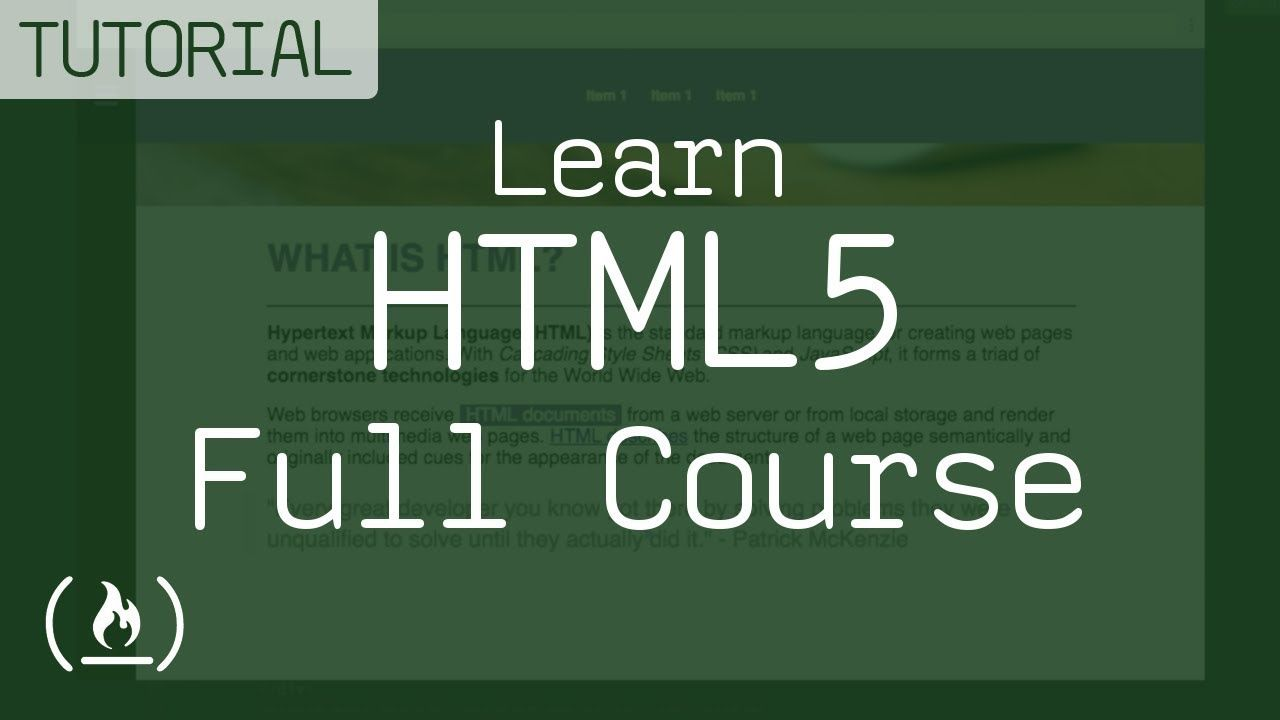 Learn Html5 Full Course With Code Samples Youtube Web Design Tutorials Learning Learn To Code