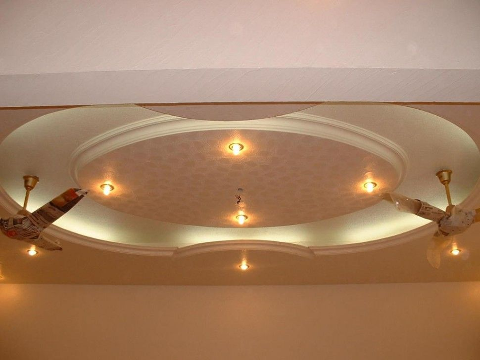 Decorations Round Vaulted Ceiling Design Using Double Fan Also Yellow Lamp How To