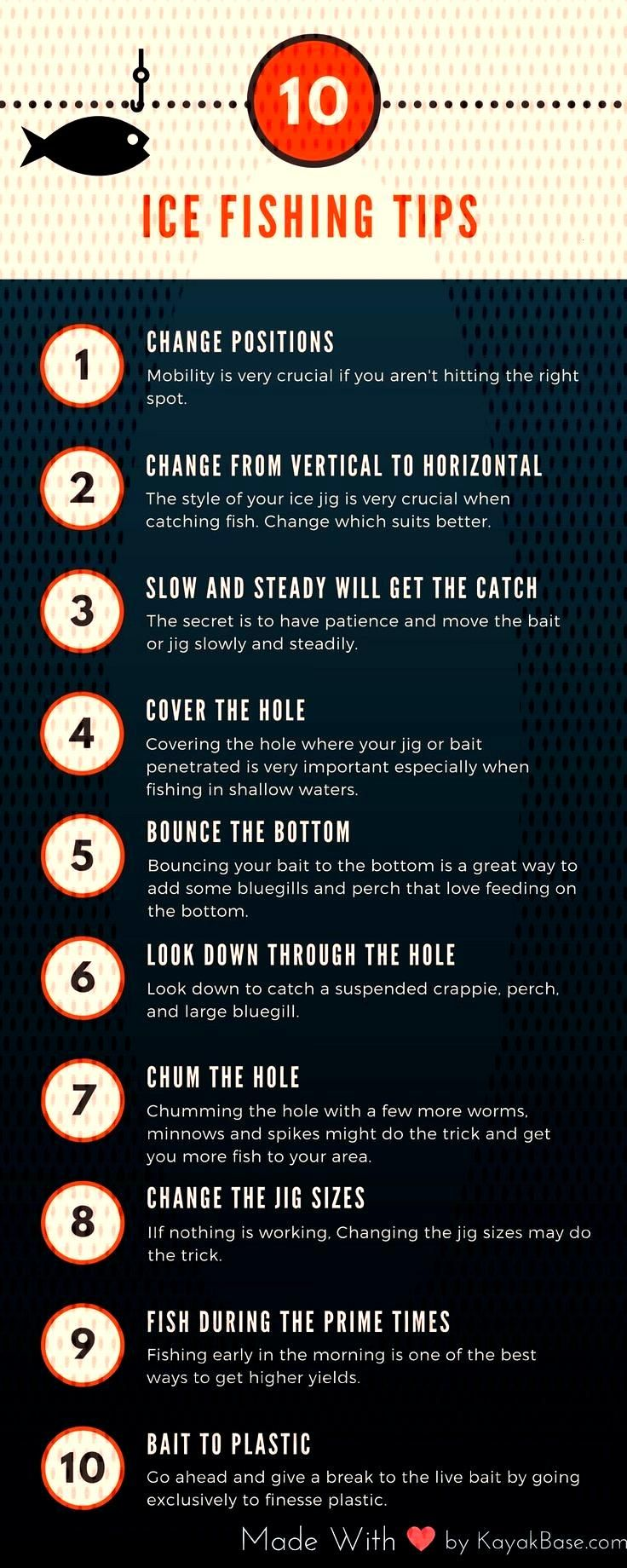 Best Ice Fishing Tips infographic