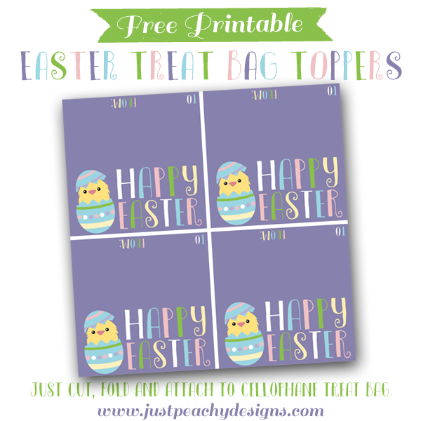 photo regarding Free Printable Bag Toppers Templates known as Totally free Printable Easter Address Bag Toppers Printables inside 2019