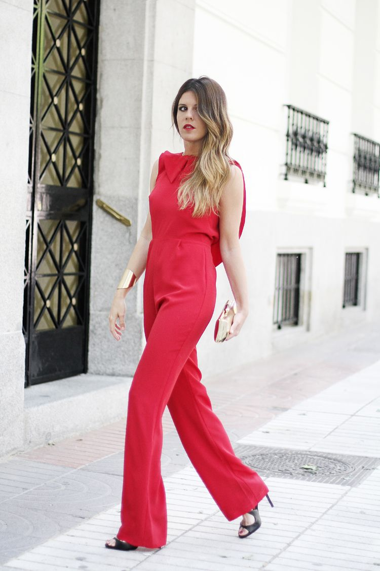 3a7d9c47cac3 love this amazing look !! | Jumpsuits en 2019 | Mono rojo ...