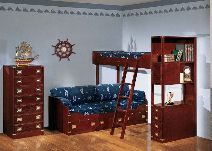 Kids Bedroom Attracting and Creative Compact Boys Room Dark