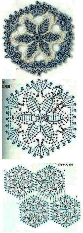 Pin von Marion Nitsche auf Grannies, Squares, ... | Pinterest