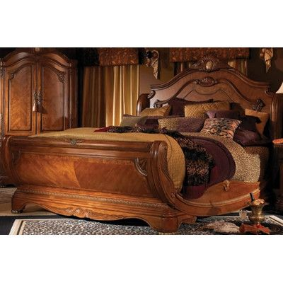 Michael Amini Cortina Sleigh Customizable Bedroom Set Bedroom Furniture Design Elegant Bedroom Bed Design