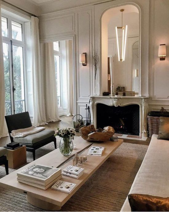 Home decor blue interior design the unofficial start of summer hooray  hope you all had  lovely weekend and got to enjoy some nice weather also french interiors inspired living space large windows white rh pinterest