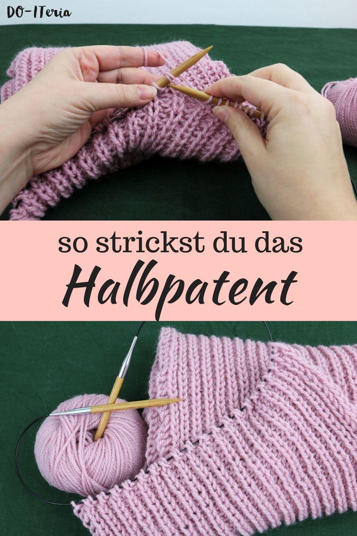 Photo of gestreifter Schal mit Halbpatent stricken | DO-ITeria
