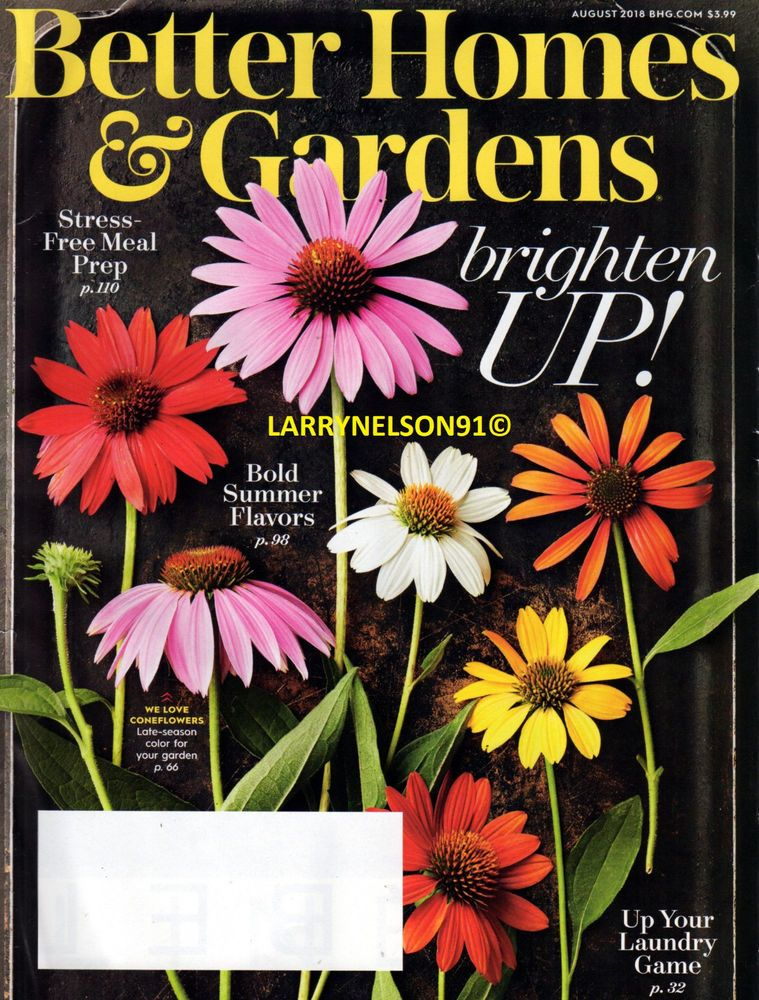 BETTER HOMES AND GARDENS MAGAZINE AUGUST 2018 BOLD FLAVORS