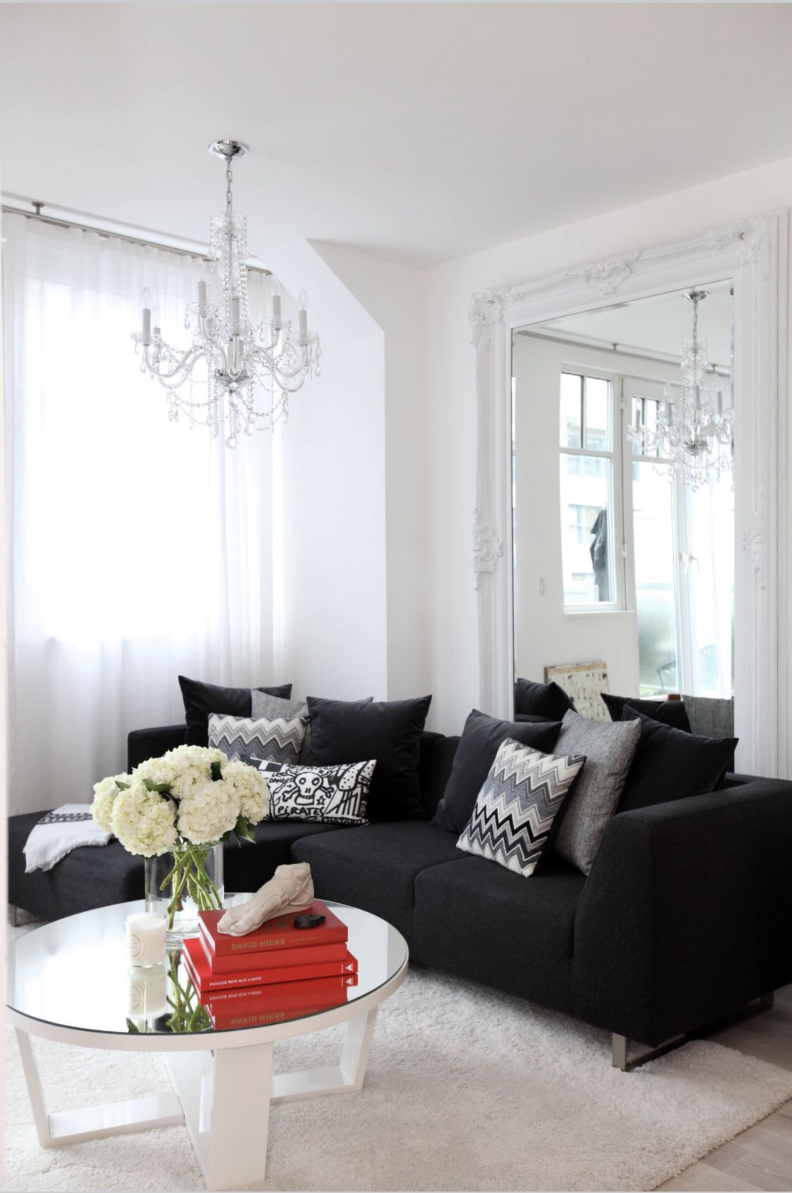 How To Style A Black Sofa Black Couch Decor Black Couch Living Room Black Sofa Living Room