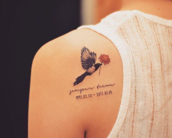 20 Sinnvolle Elster Tattoos und die Bedeutungen
