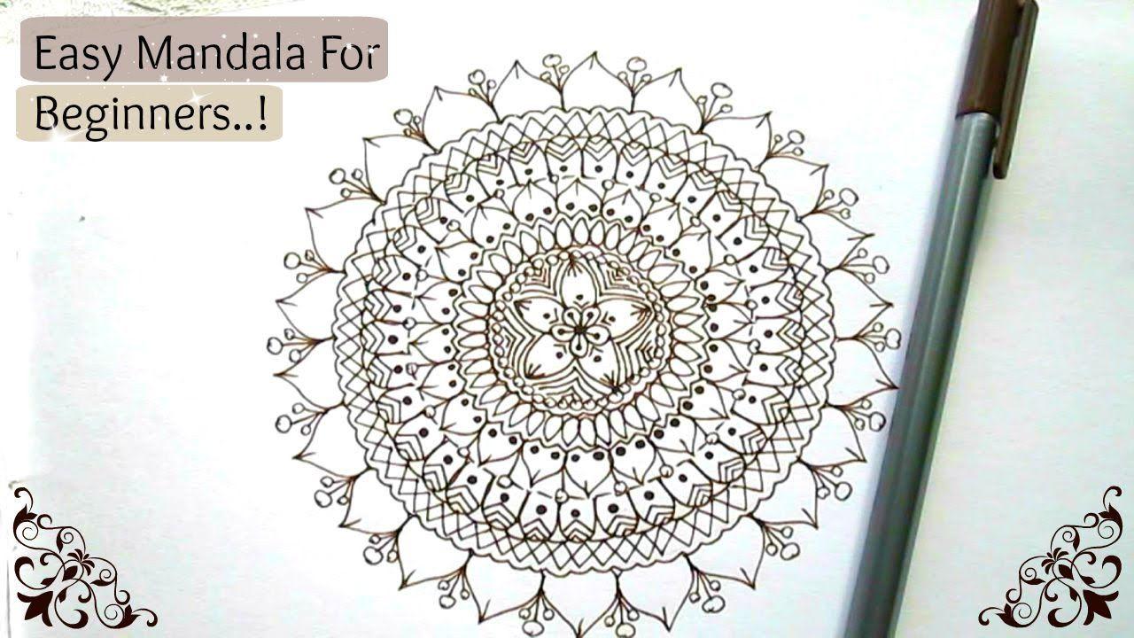 Easy Mandala For Beginners Step By Step Tutorial Zen Tangle