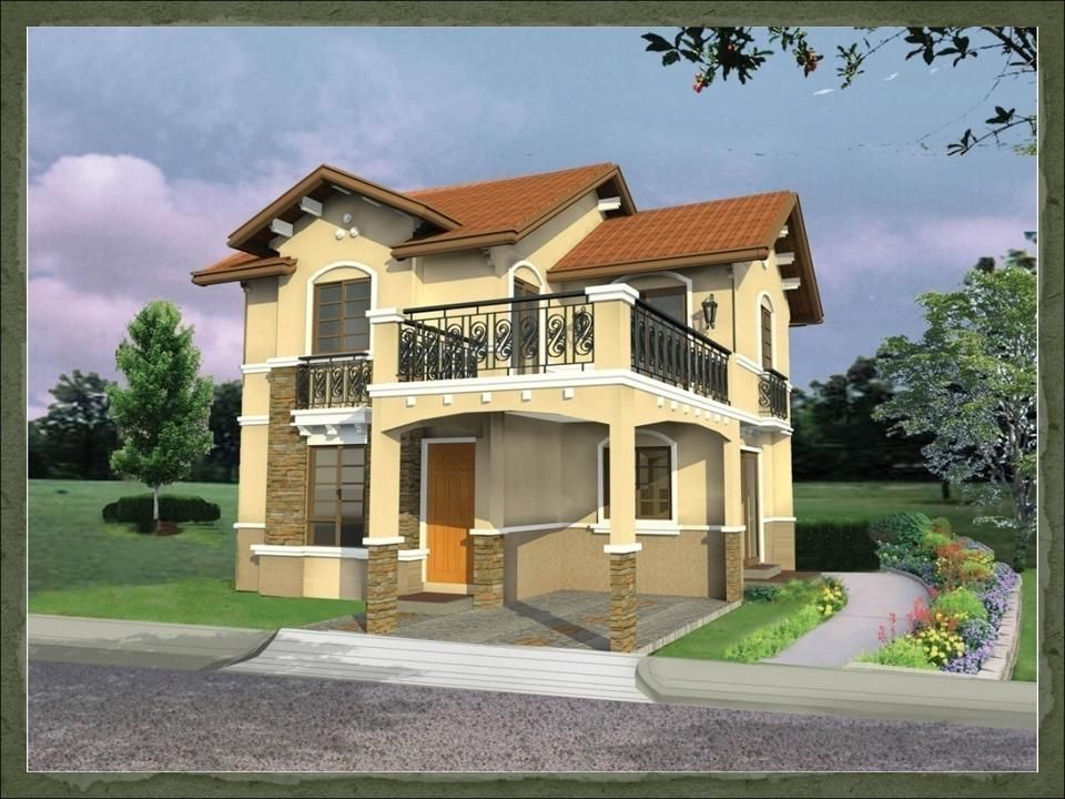 Home designs ideas modern two storey house design for Small house design with terrace