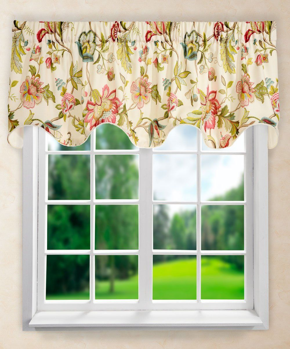 Ellis curtain brissac lined scallop valance x u red read
