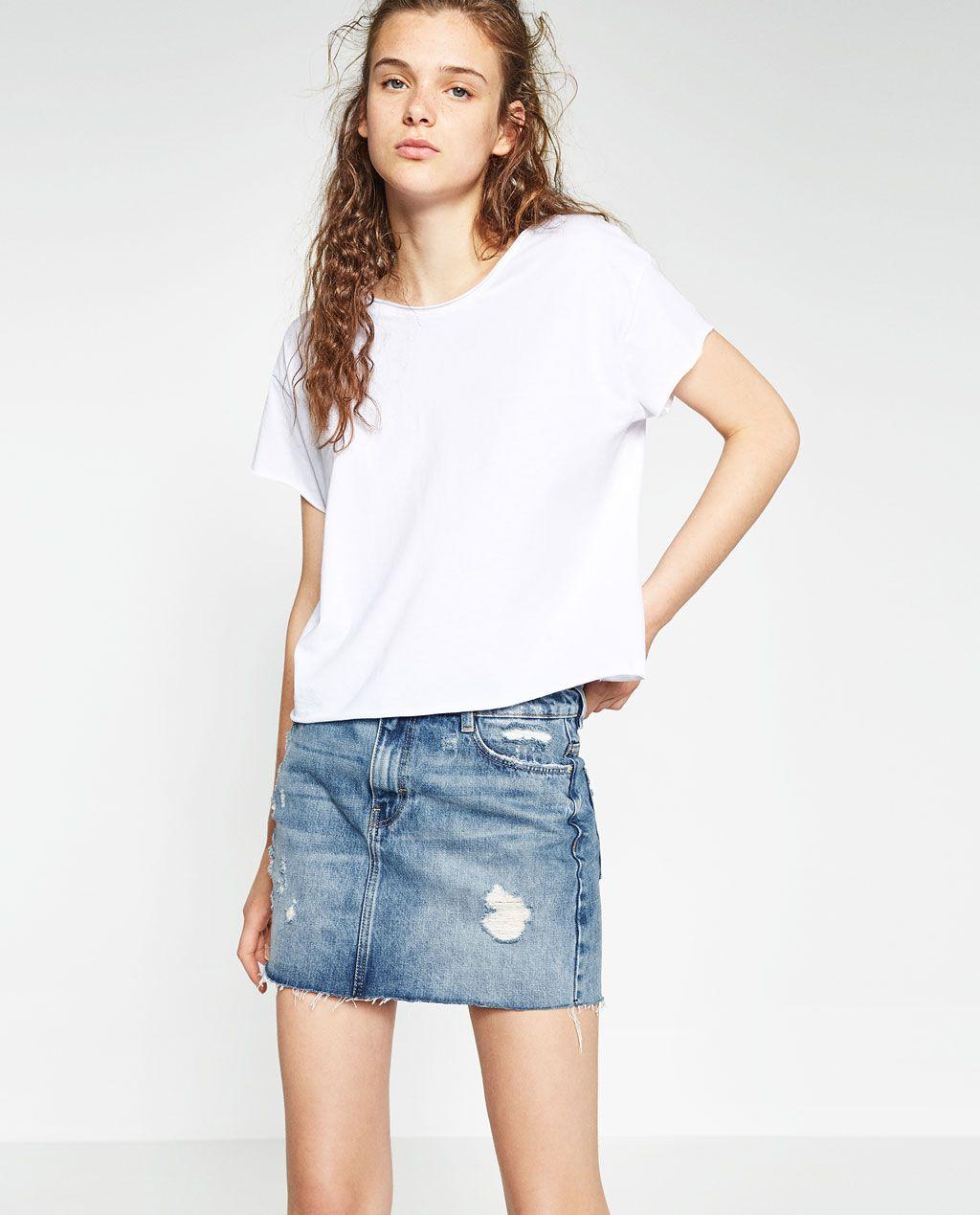 ae0432a589 Immagine 2 di GONNA MINI TAGLI di Zara | | WISHLIST | | Mini skirts ...