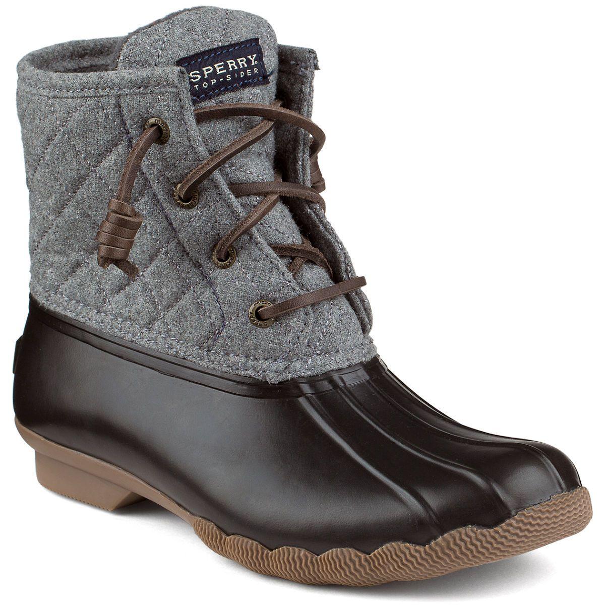 Women S Saltwater Wool Duck Boot Boots Sperry Top