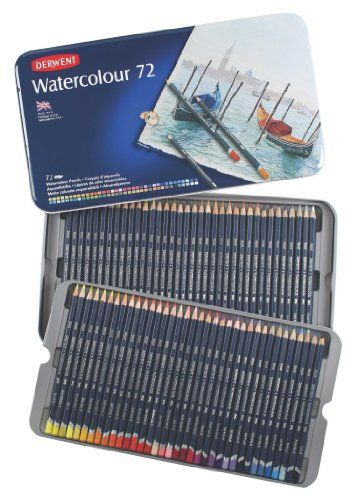 85 For Set Of 72 Derwent Watercolor Pencils 3 4mm Core Metal