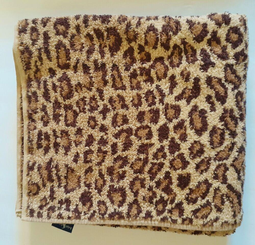 Ralph Lauren Aragon Bath Towel Leopard Animal Print Usa 27 X 48 Ralphlauren In 2020 Animal Print Rug Animal Print