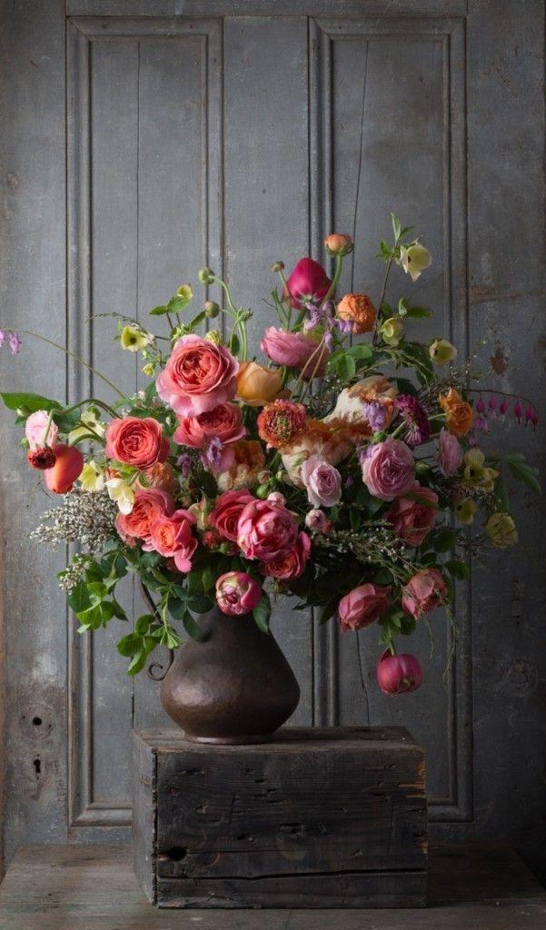 Blumenwiese Englisch opulentes bouquet mit und pfingstrosen