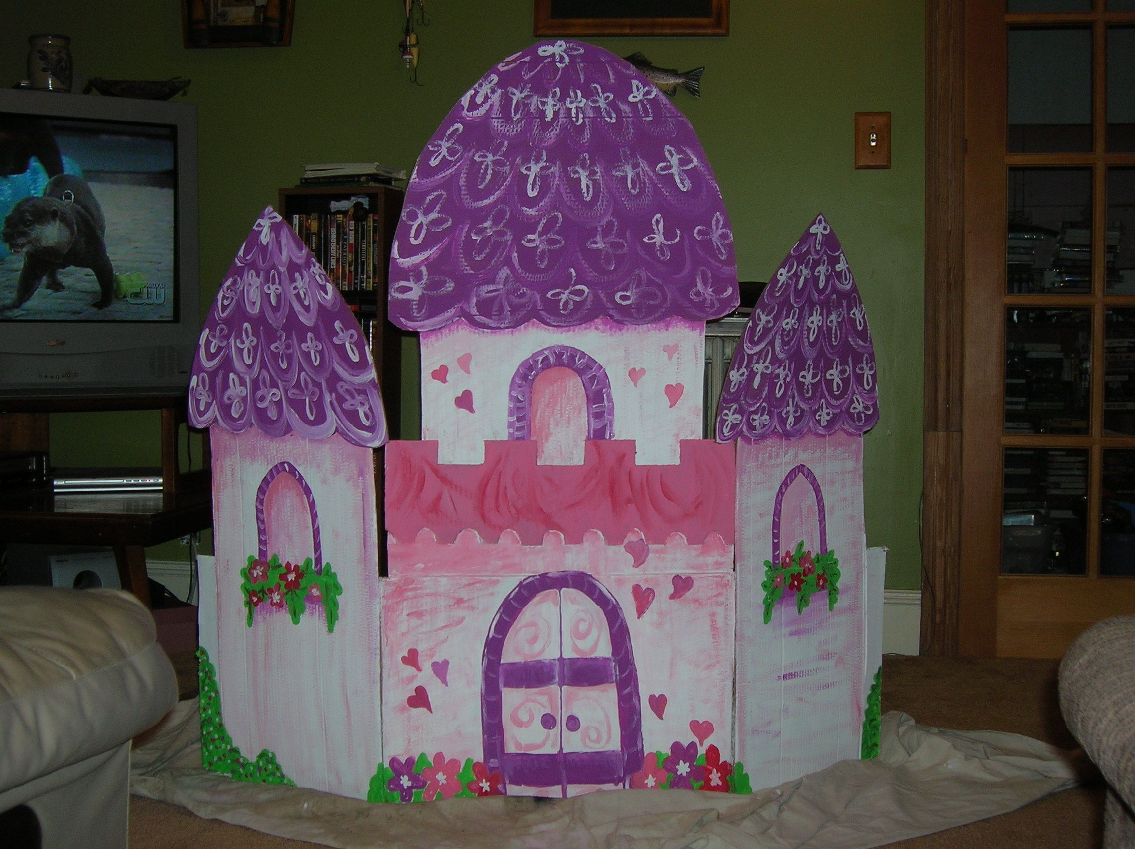 princess castle backdrop for photos made from cardboard | neat
