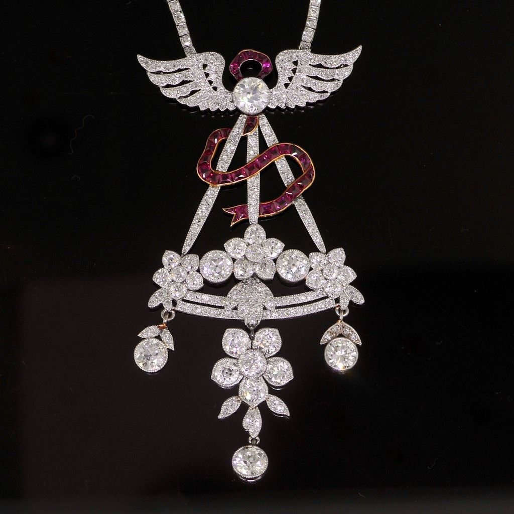 A Ruby and Diamond Necklace by Cartier, circa 1914