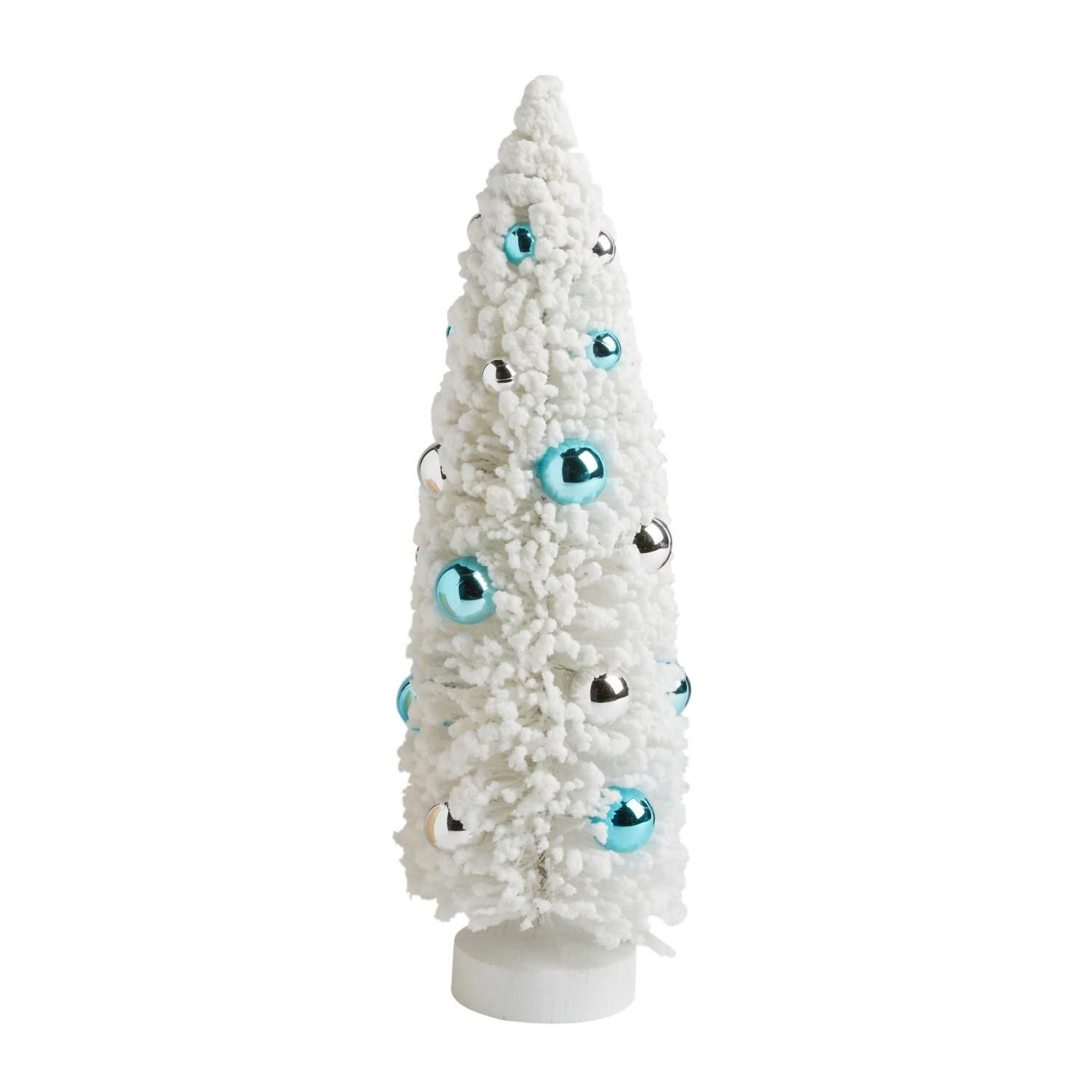 16 5 Blue Silver Ornaments Brush Tree Decor Blue Silver Tree Christmas Tree Shop Silver Ornaments Tree Shop